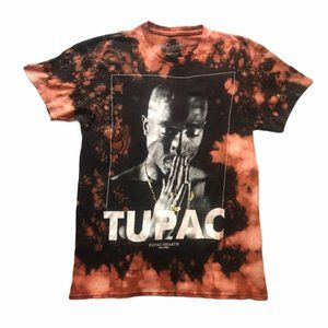 Tupac Custom Bleached Distressed Black T-Shirt